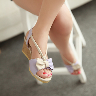 Fashion-2014-Sweet-Bow-Ankle-Wrap-Women-Sandals-Wedges-High-Heel-Sandals-Women-Shoes-Casual-Women
